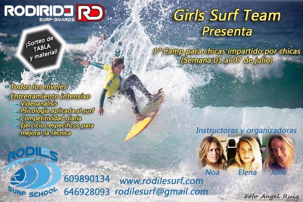 PRIMER SURF CAMP PARA CHICAS IMPARTIDO PORCHICAS